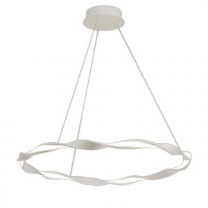 Mantra M6571 Madagascar Pendant, 36W LED, 3000K, 2520lm, IP20, Sand White, 3yrs Warranty