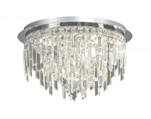 Diyas IL30251 Maddison Ceiling Round 6 Light Polished Chrome/Crystal