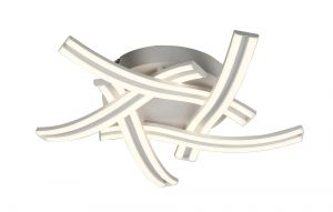 Madrit 5 Light Ceiling, 5 x 12W LED, 4000K, 3 Step Dimming, 3792lm, White, 3yrs Warranty