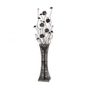 Diyas Home IL70399  (DH) Majella Floor Lamp 7 Light Polished Chrome/Coffee/Silver/Crystal