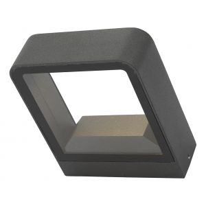 Dar MAL3239 Malone Single  Outdoor Wall Light Anthracite LED Finish