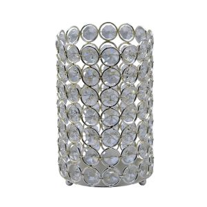 Diyas Home IL70021 (DH) Malo Large Cylinder Crystal Candle Holder