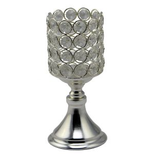 Diyas Home IL70023 (DH) Malo Small Chalice Crystal Candle Holder