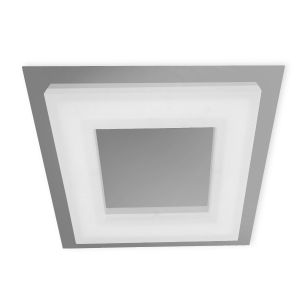 *## Marcel Ceiling 20W LED Square 3000K IP44, 1800lm, Polished Chrome/Frosted Acrylic, 3yrs Warranty