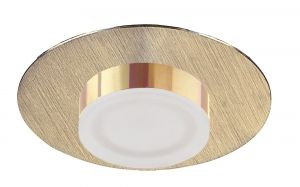 *## Marcel Recessed Down Light 4W LED Round 3000K IP44, 360lm, Satin Gold/Frosted Acrylic/Gold, Cut Out: 70mm, Driver Included, 3yrs Warranty