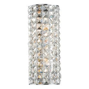 DAR MAT0950 Matrix Double Wall Light Crystal/Polished Chrome Finish Switched