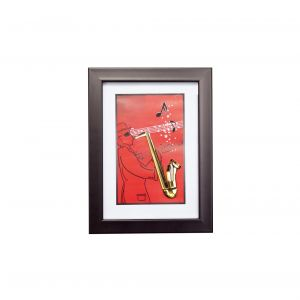 Diyas Home IL70507 (DH) Melody Saxophone,  Black Frame,  Amber Crystal