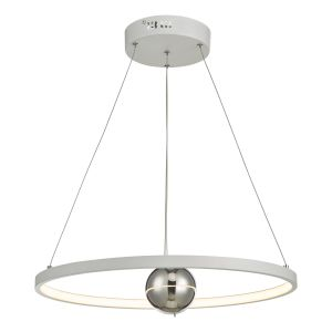Dar MER862 Mercury Single Pendant Horizontal White LED Finish