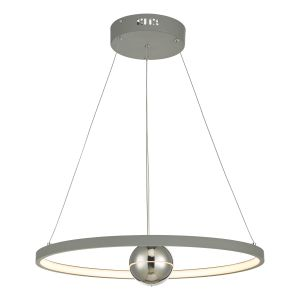 Dar MER8639 Mercury Single Pendant Horizontal Grey LED Finish