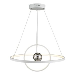 Dar MER882 Mercury Single Pendant White LED Finish