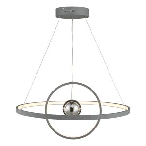 Dar MER8839 Mercury Single Pendant Grey LED Finish