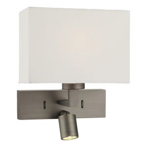 DAR MOD7163L Modena Double LED Wall Light Bronze Finish Switched