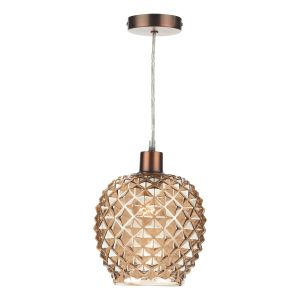 DAR MOS6535 Mosaic Non Electric Pendant Champagne Glass Finish