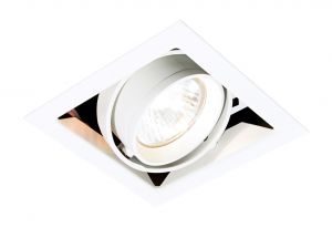 Saxby MR00102 Box Single Recessed Downlight White Finish