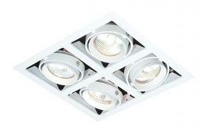 Saxby MR00402 Box 4x50W Recessed Downlight White Finish