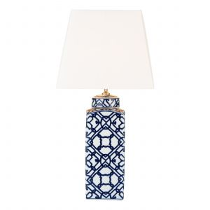 DAR MYS4223 Mystic Single Table Lamp (Base Only) Blue Finish