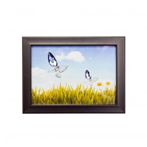 Diyas Home IL70520 (DH) Nature Butterflies, Black Frame Blue, Purple Crystal