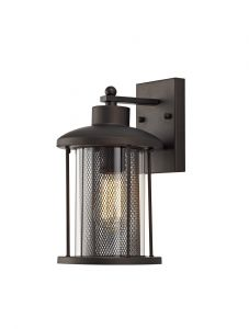 New York Large Wall Lamp, 1 x E27, Antique Bronze/Clear Glass, IP54, 2yrs Warranty