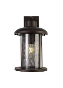 Nu New York Extra Large Wall Lamp, 1 x E27, Antique Bronze/Clear Glass, IP54, 2yrs Warranty