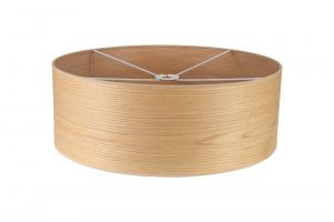 Nu Niva Round, 600 x 210mm Wood Effect Shade, Light Oak/White Laminate