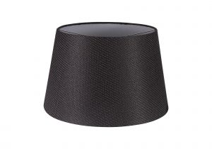 Nu Niva Round, 350/450 x 280mm Fabric Shade, Charcoal Grey/White Laminate