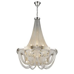 Valery 10 Light Adjustable E14 Pendant Dimmable Silver