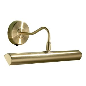 DAR ONE6741 Onedin Double Picture Light Brass Finish Switched