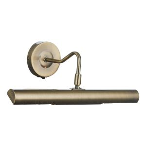 DAR ONE6775 Onedin Double Picture Light Antique Brass Finish Switched