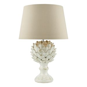 DAR ORR4233 Orris Single Table Lamp (Base Only) Cream Finish