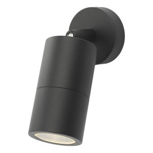 Dar ORT0722 Ortega Single Outdoor Wall Light Black Finish