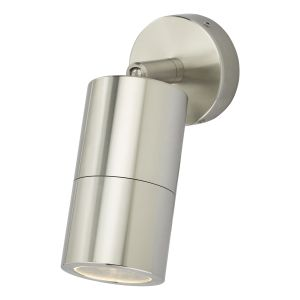 Dar ORT0768 Ortega Single Outdoor Wall Light Aluminium Finish