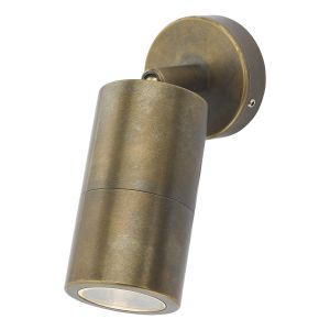 Dar ORT0775 Ortega Single Wall Light OutdoorAntique Brass Finish