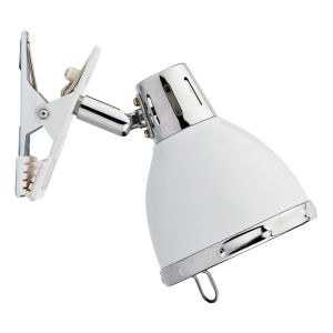 DAR OSA4133 Osaka Single Clip Spotlight White/Polished Chrome Finish