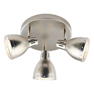 DAR OSA7661 Osaka 3 Light Spotlight Antique Chrome Finish