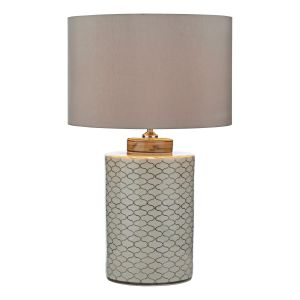 DAR PAX4233 Paxton Single Table Lamp (Base Only) Cream Finish