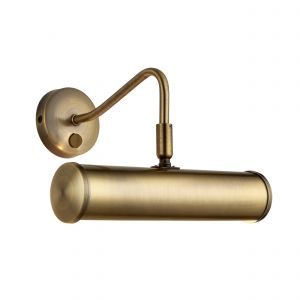 Turner Single Picture Light Brass Finish Switched