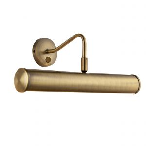 Turner Double Picture Light Brass Finish Switched