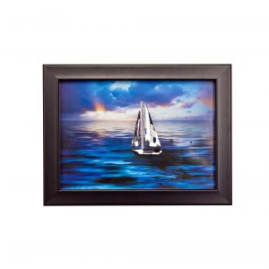 Diyas Home IL70503 (DH) Play Sailing, Black Frame, Clear Crystal