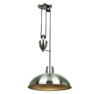 Polka Single Pendant Satin Nickel Finish