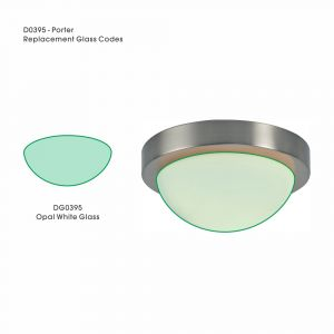 Deco DG0395 Porter Replacement Small Opal White Glass For D0395