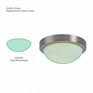 Deco DG0396 Porter Replacement Medium Opal White Glass For D0396