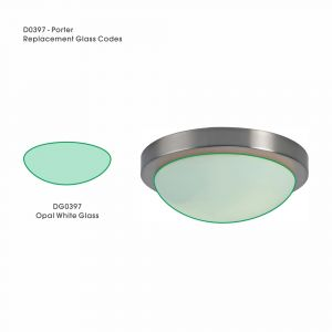 Deco DG0397 Porter Replacement Large Opal White Glass For D0397