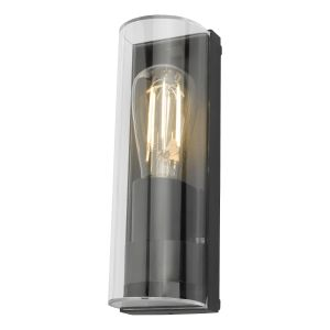 Dar QUE1639 Quenby Single Wall Light Outdoor Anthracite Finish