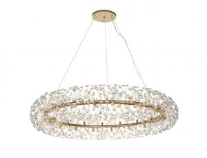 Riptor Pendant 36 Light G9  French Gold/Crystal