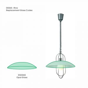 Deco DG0265 Riva Replacement Opal Glass For D0265, D0266, D0267, D0268, D0269