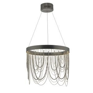 Dar ROE8663 Roella Single LED Pendant Bronze Finish
