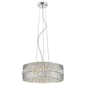 Zefiro 7 Light G9 Adjustable Dimmable Double Insulated Polished Chrome Pendant