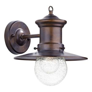 DAR SED1529 Sedgewick Single Outdoor Wall Light Bronze/Clear Glass Finish