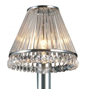 Diyas IL30100 Crystal Clip-On Shade With Clear Glass Rods Polished Chrome/Crystal