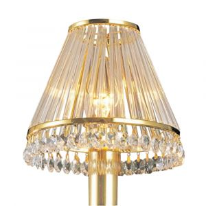 Diyas IL30200 Crystal Clip-On Shade With Clear Glass Rods French Gold/Crystal